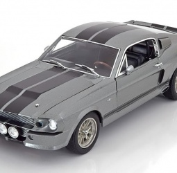 1:18-Shelby Mustang GT 500-Eleanor-film Gone in 60 seconds-Nicolas Cage-1967-sivo-crni-Greenlight