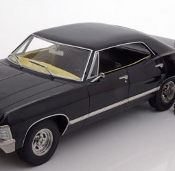 1:18-Chevrolet Impala Sport Sedan sa 1:18-figurama Dean i Sam-TV Serija Supernatural-1967-crni-Greenlight