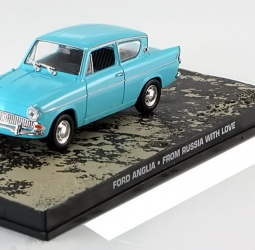 1:43-Ford Anglia Super 123E-film From Russia with Love-James Bond-1962-1967-svijetlo plavi-Altaya 007 Collection