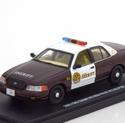 1:43-Ford Crown Victoria-Police Interceptor-TV Series Once Upon a Time-2005-smeđi-bijeli-Greenlight