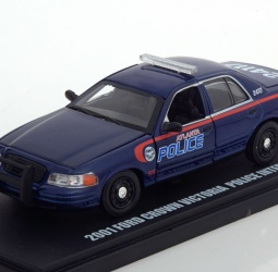 1:43-Ford Crown Victoria-Police Interceptor-TV Series The Walking Dead-2001-tamno plavi-Greenlight