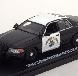 1:43-Ford Crown Victoria-Highway Patrol-2008-crno-bijeli-Greenlight