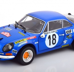 1:18-Renault-Alpine A110-No 18-Rally Monte Carlo-Therier-Jaubert-1973-Elf-Kyosho